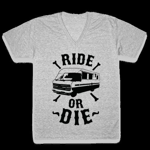 RV Ride Or Die V-Neck Tee Shirt