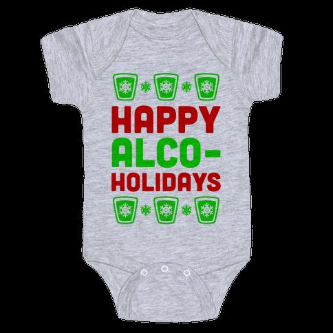 Happy Alco-Holidays Baby Onesy