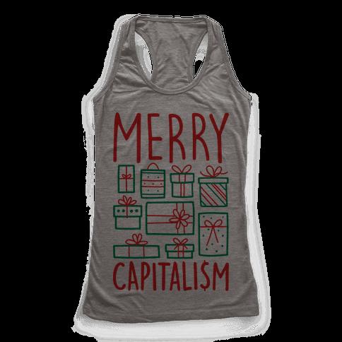 Merry Capitalism Racerback Tank Top