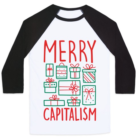 Merry Capitalism Baseball Tee