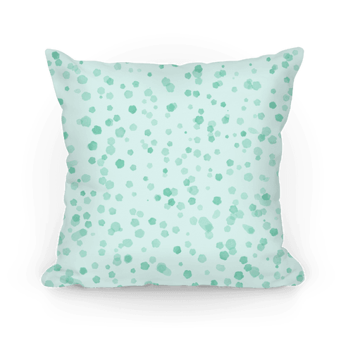 Teal Polka Dot Watercolor Pattern