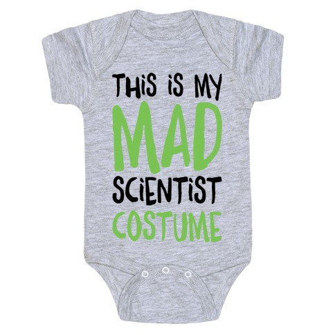 This Is My Mad Scientist Costume Baby Onesy