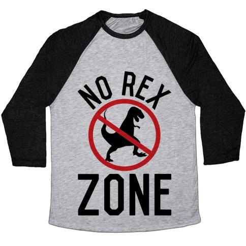 No Rex Zone Baseball Tee