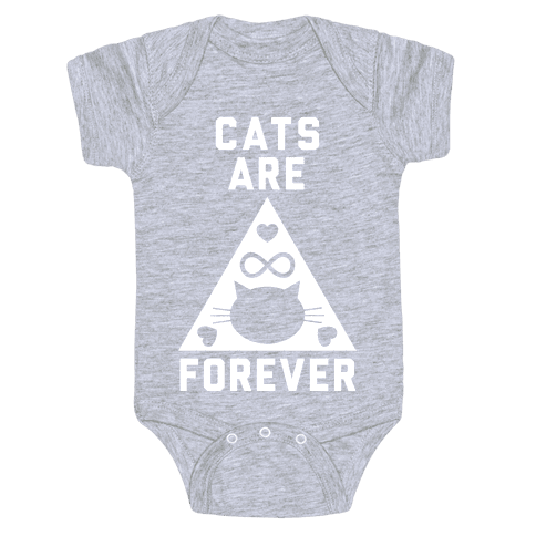 Cats Are Forever Baby Onesy