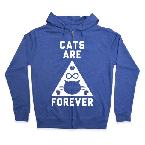 Cats Are Forever Zip Hoodie