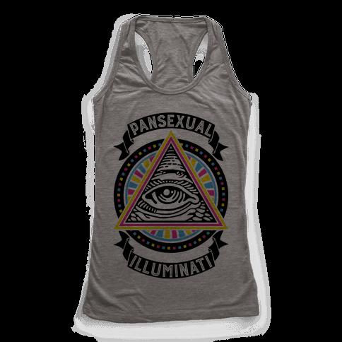 Pansexual Illuminati Racerback Tank Top