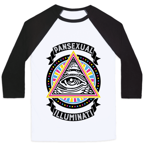 Pansexual Illuminati Baseball Tee