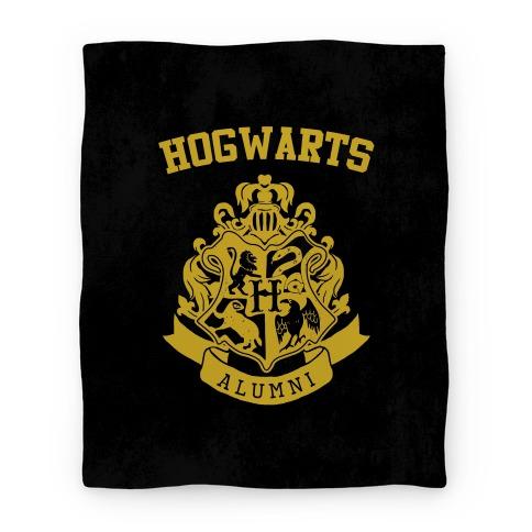 Hogwarts Alumni Crest Hufflepuff Blanket Blanket