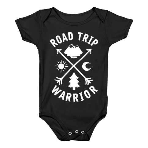 Road Trip Warrior Baby Onesy