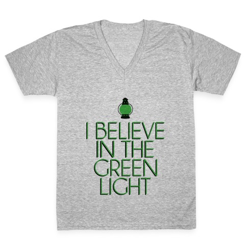 Green Light V-Neck Tee Shirt