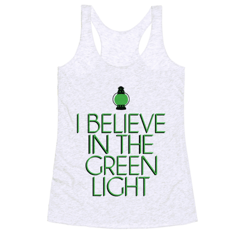 Green Light Racerback Tank Top