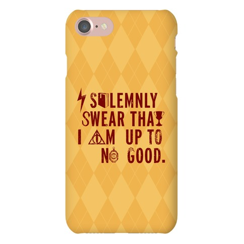 I Solemnly Swear I Am Up to No Good (Gold) Phone Case