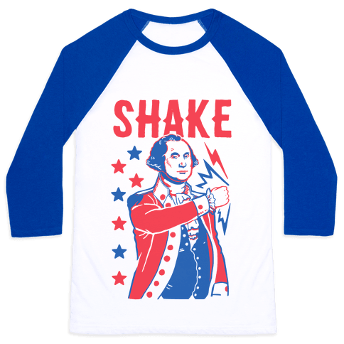 Shake & Bake: George Washington Baseball Tee
