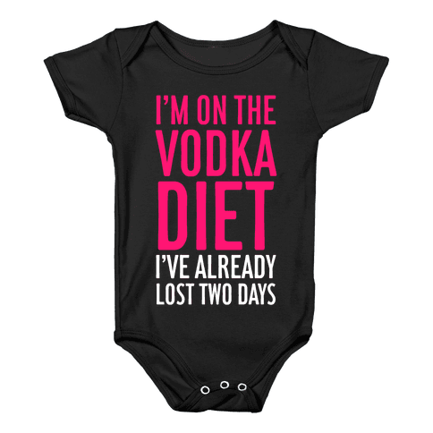 Vodka Diet Baby Onesy