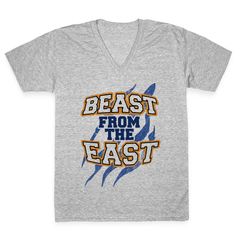 Beast from the East V-Neck Tee Shirt