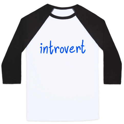 Introvert Baseball Tee
