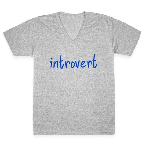 Introvert V-Neck Tee Shirt
