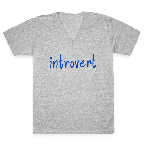 Introvert V-Neck Tee Shirt