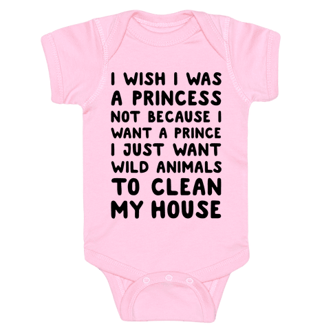 I Wish I Was A Princess Baby Onesy