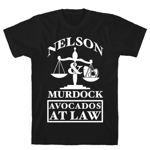 Nelson & Murdock Avocados At Law Mens T-Shirt
