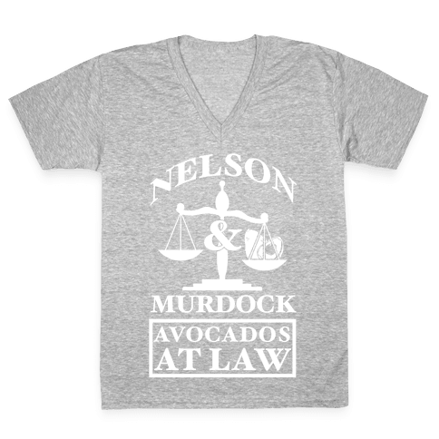 Nelson & Murdock Avocados At Law V-Neck Tee Shirt