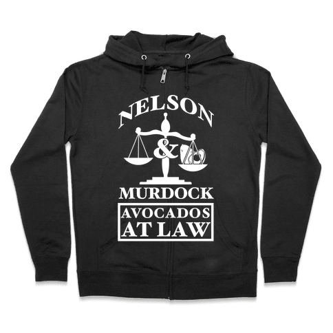 Nelson & Murdock Avocados At Law Zip Hoodie