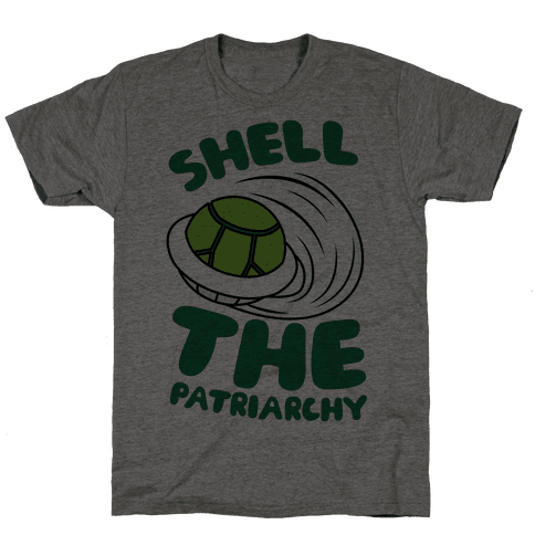 Green Shell The Patriarchy Mens T-Shirt