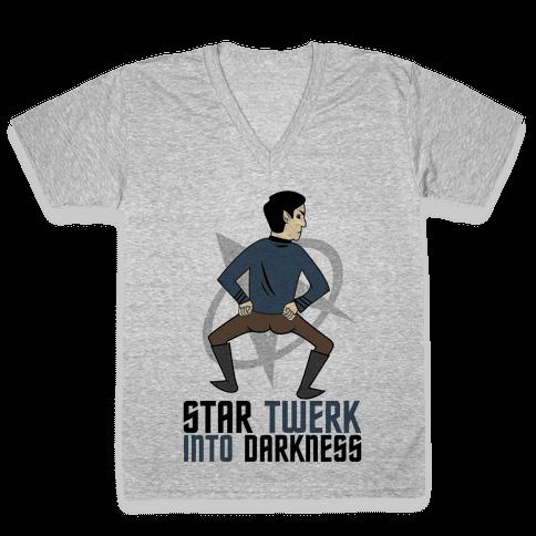 Star Twerk V-Neck Tee Shirt