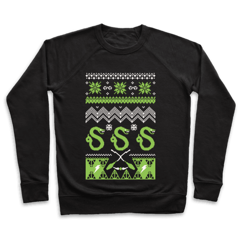 Hogwarts Ugly Christmas Sweater: Slytherin Pullover
