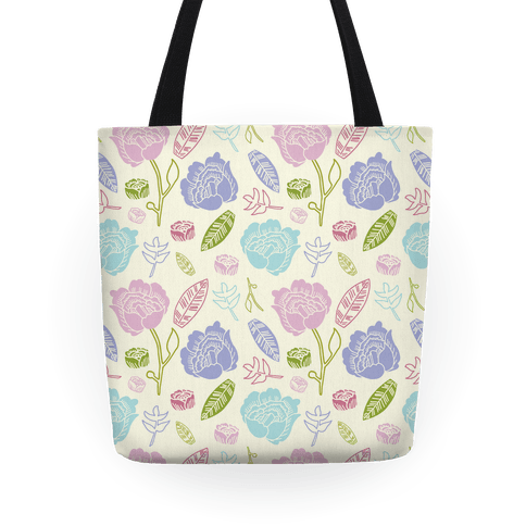 Floral and Leaves Tote