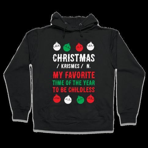 Christmas Definition Hooded Sweatshirt