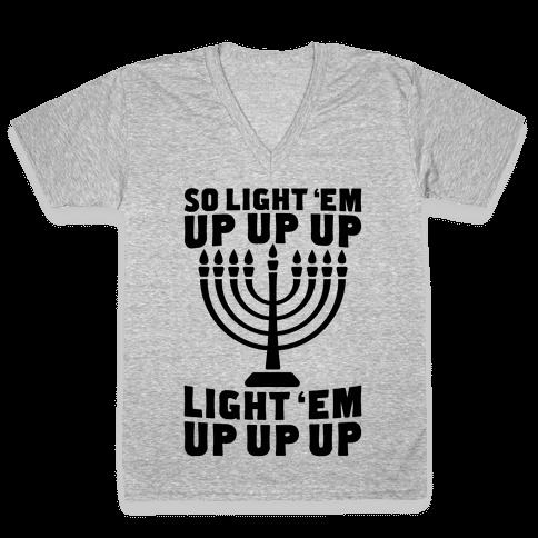 So Light 'Em Up V-Neck Tee Shirt