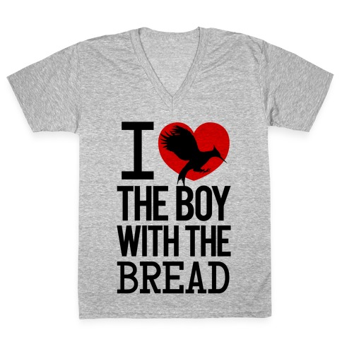 I Love the Boy with the Bread V-Neck Tee Shirt