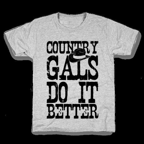 Country Gals Do It Better Kids T-Shirt