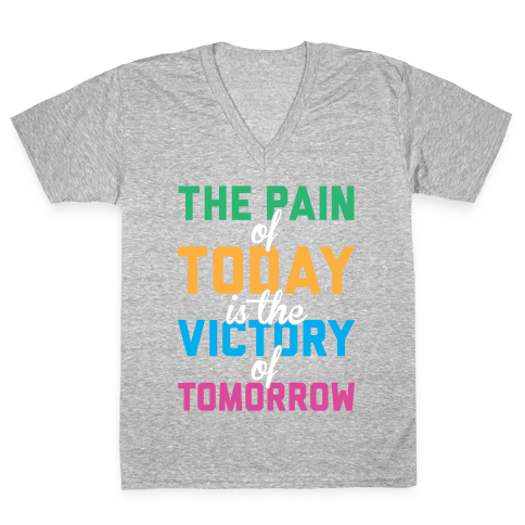 Pain And Victory V-Neck Tee Shirt