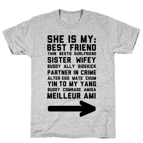 She Is My Best Friend Twin Bestie 1 Mens T-Shirt