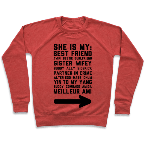 She Is My Best Friend Twin Bestie 1 Pullover
