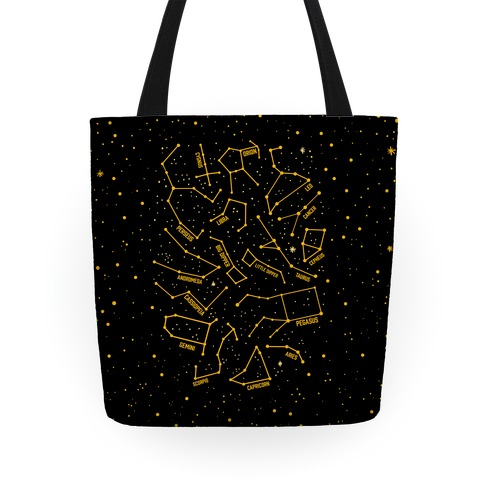 Constellation Star Pattern Tote