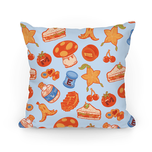 Gamer Food Items Pillow