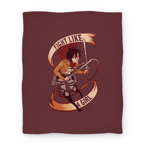 Mikasa: Fight Like a Girl Blanket