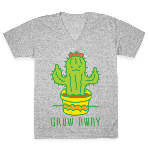 Grow Away Cactus V-Neck Tee Shirt