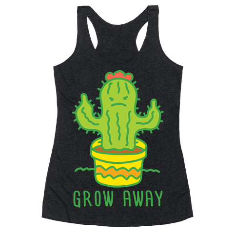Grow Away Cactus Racerback Tank Top