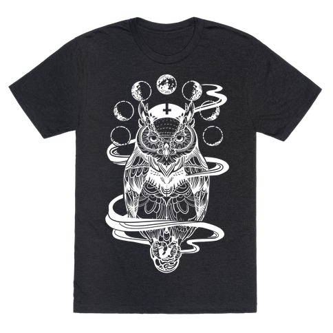 witch s owl under the phases of the moon t shirt lookhuman