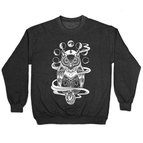Witch's Owl Under the Phases of the Moon Pullover