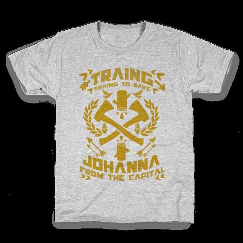 Training to Save Johanna Kids T-Shirt