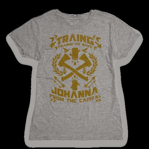 Training to Save Johanna Womens T-Shirt