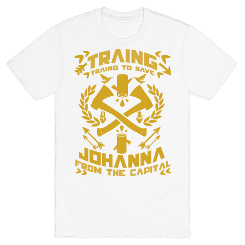 Training to Save Johanna Mens T-Shirt