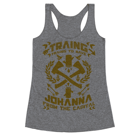 Training to Save Johanna Racerback Tank Top