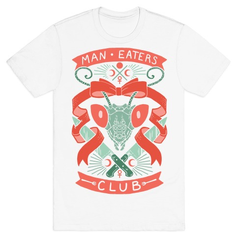 Praying Mantis Man-Eater's Club Mens T-Shirt