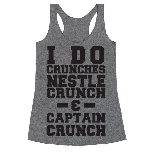 I Do Crunches Racerback Tank Top